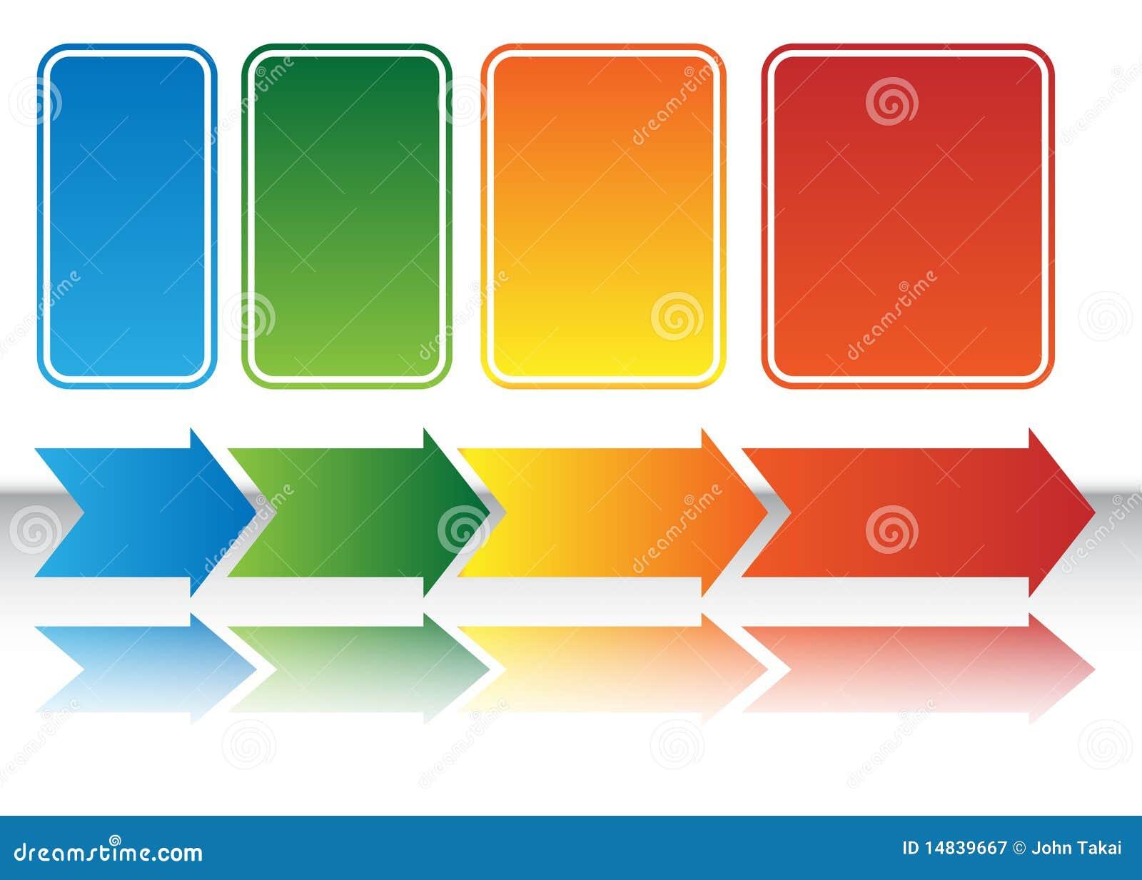 Heat Map Arrow Chart stock vector Illustration of arrows