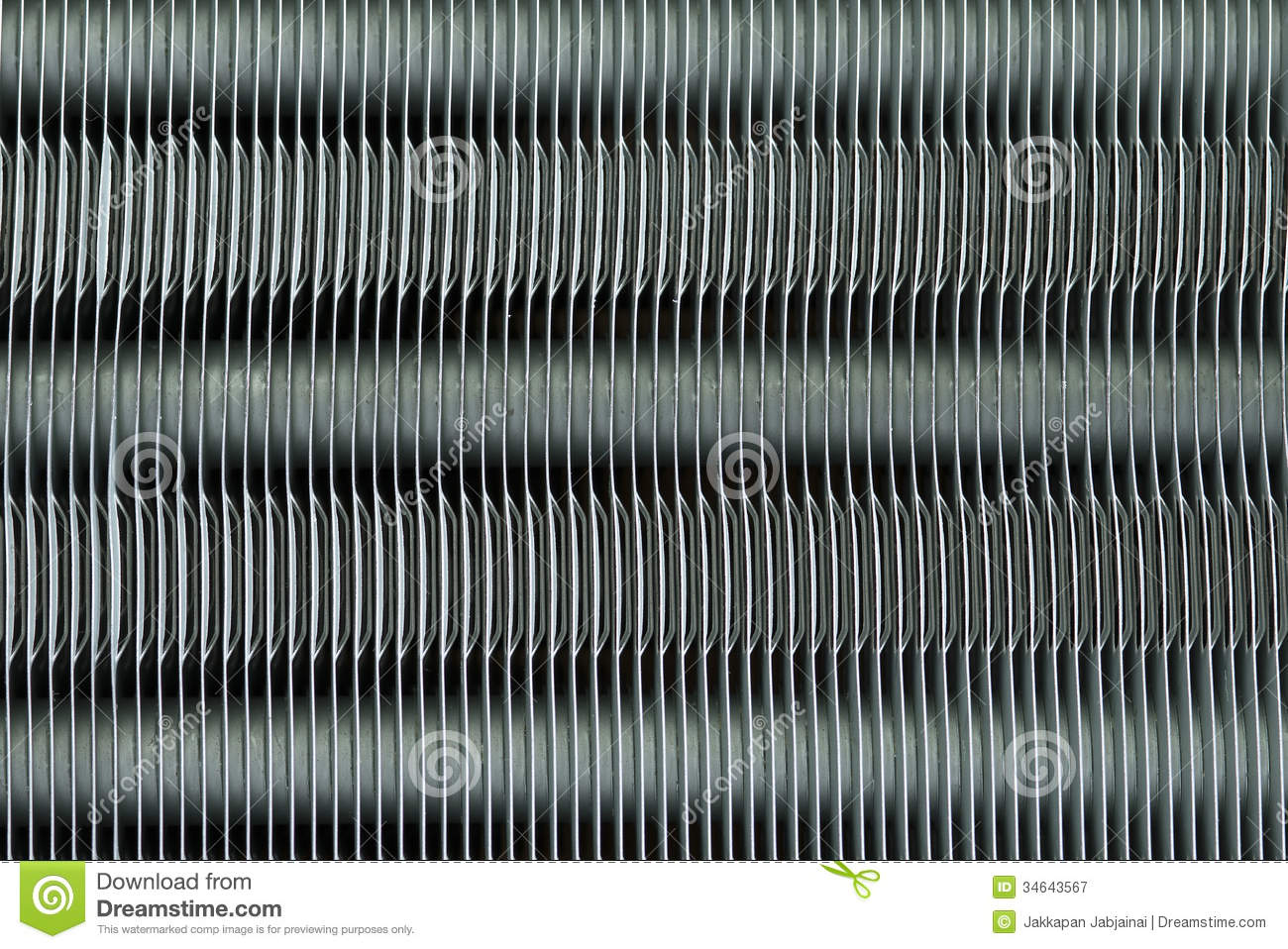 Heat Sink Of The Air Conditioner Stock Image Image 34643567