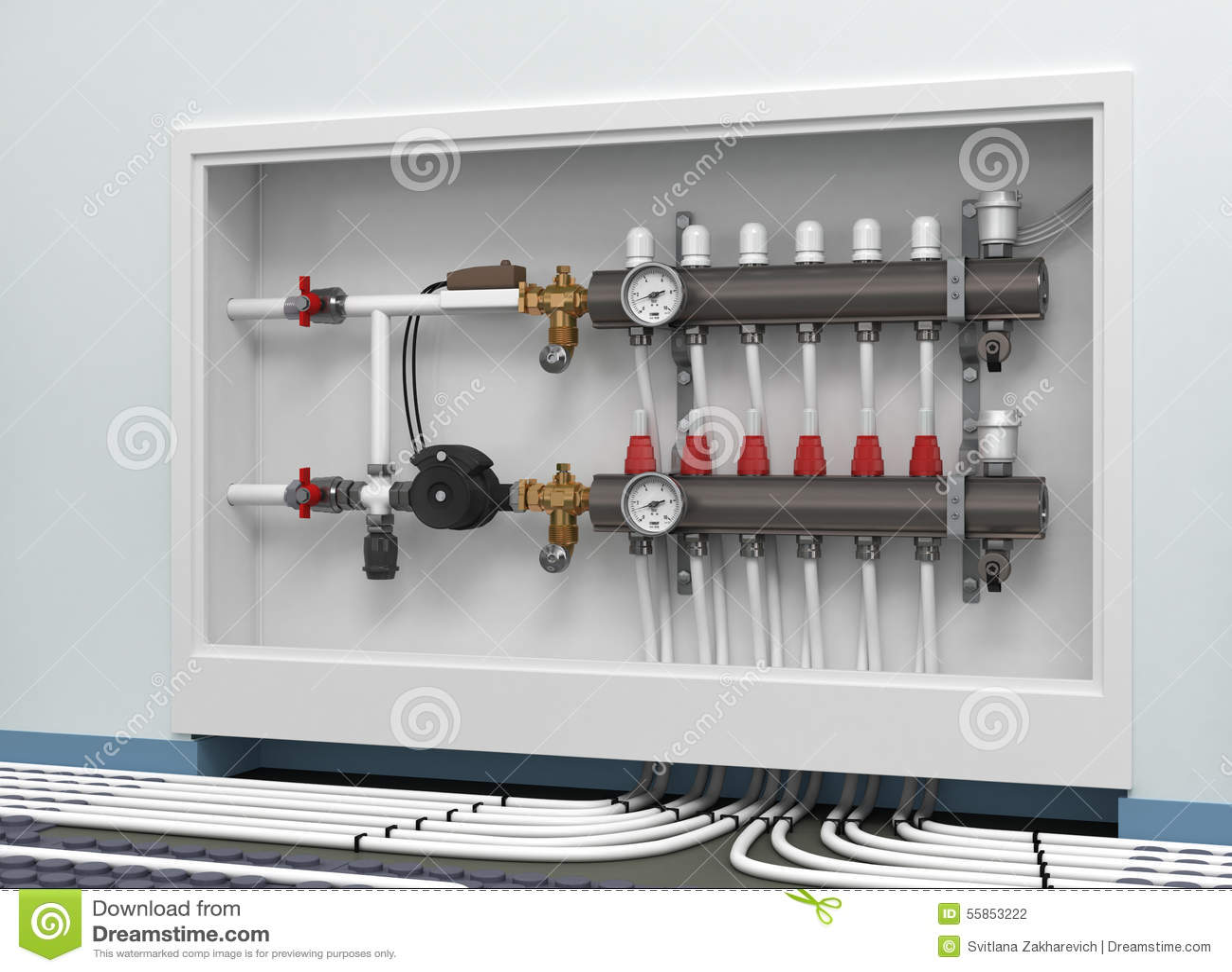 Heated Floor Collector Stock Illustration Image 55853222