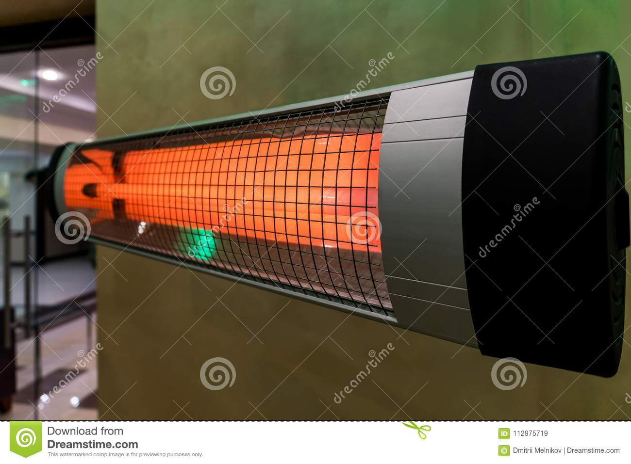 heater electric on the cold floor winter device