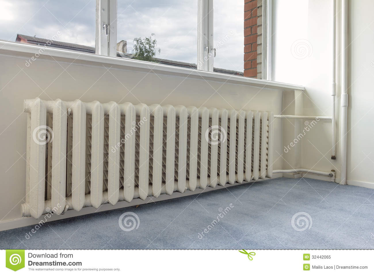 Interior close up photo of apartment central heating system. #6E5E4F