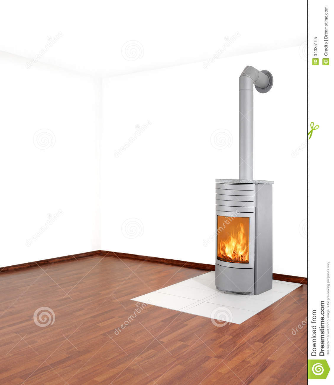Heater stock image. Image of burn, stovepipe, flue, tiles - 34335195