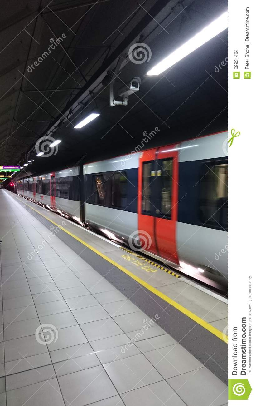 Heathrow connect train underground editorial stock image image editorial stock photo download heathrow connect sciox Choice Image