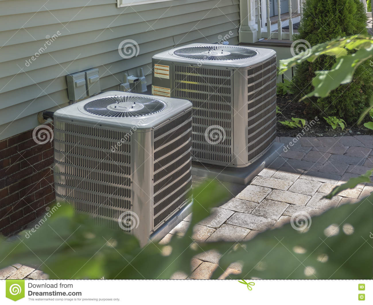 Heating and air conditioning residential HVAC units