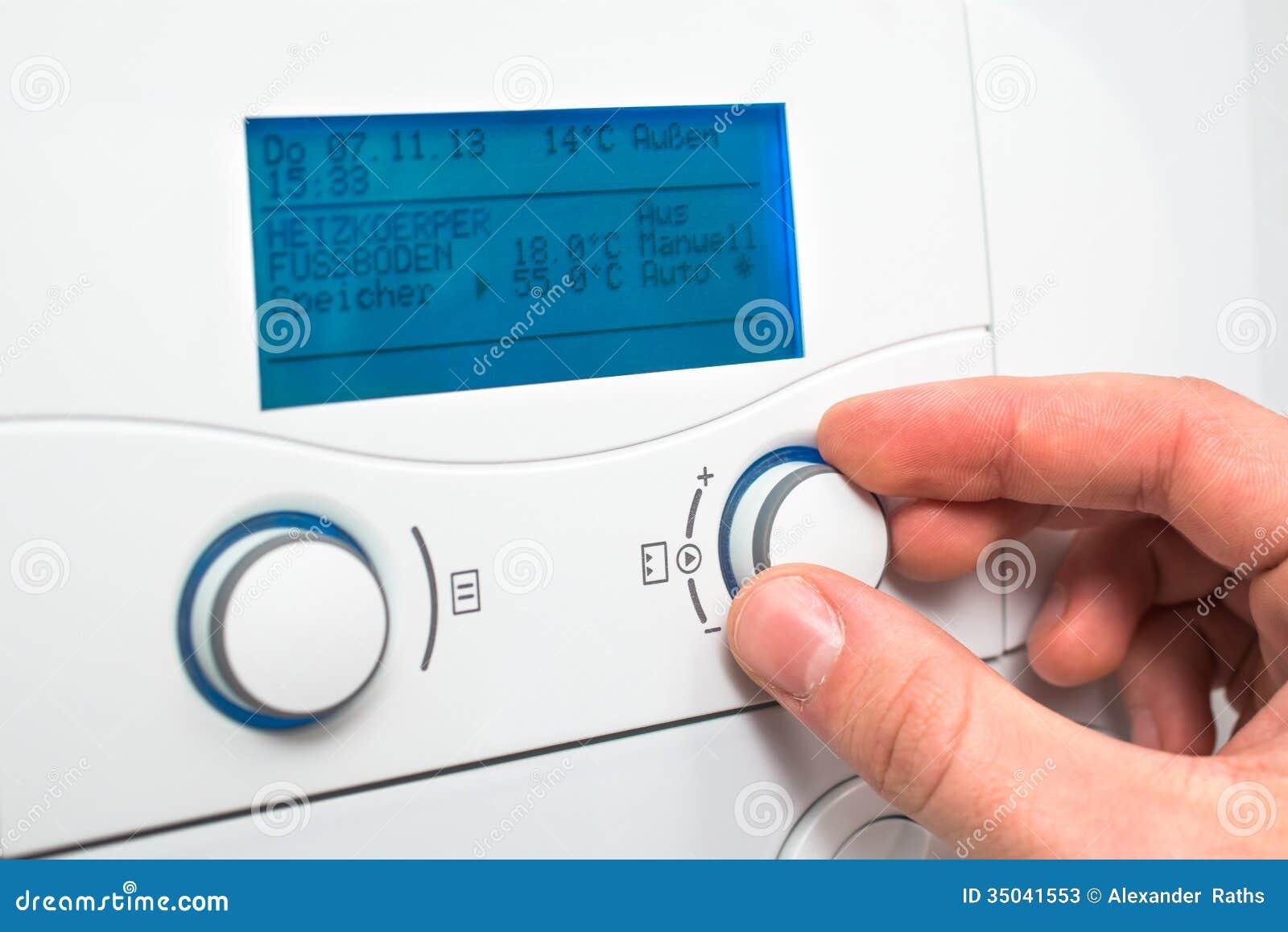 Heating boiler stock image. Image of boiler, control - 35041553