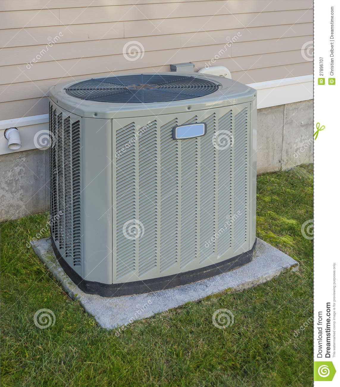 Royalty Free Stock Photography Heating Cooling Unit Image27896707 on Residential Metal Home Plans