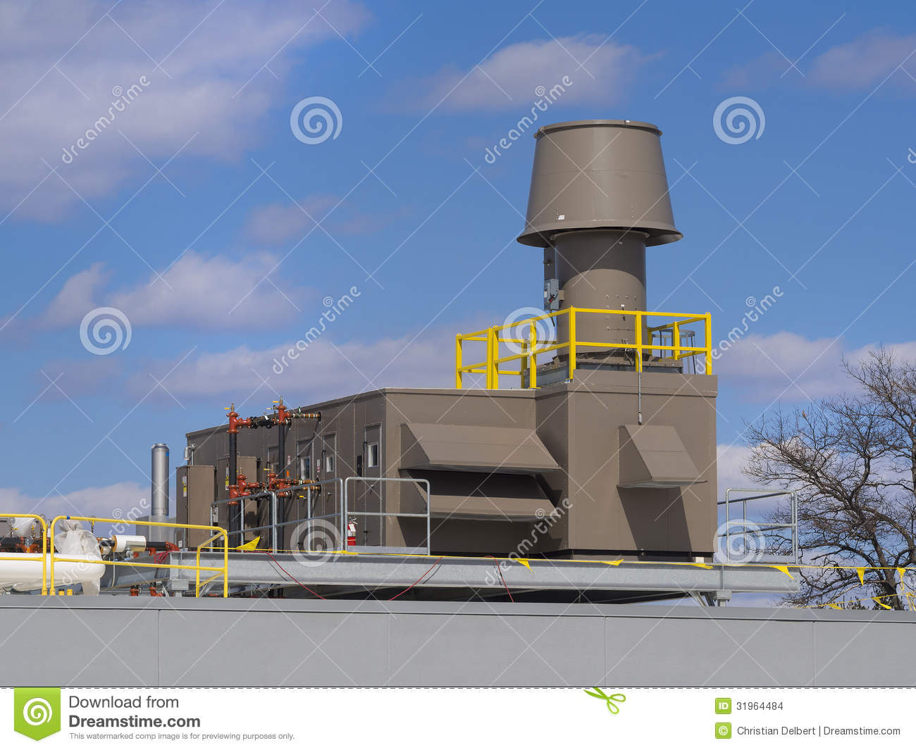 Industrial Building Ventiltors : Heating and cooling ventilation system stock images