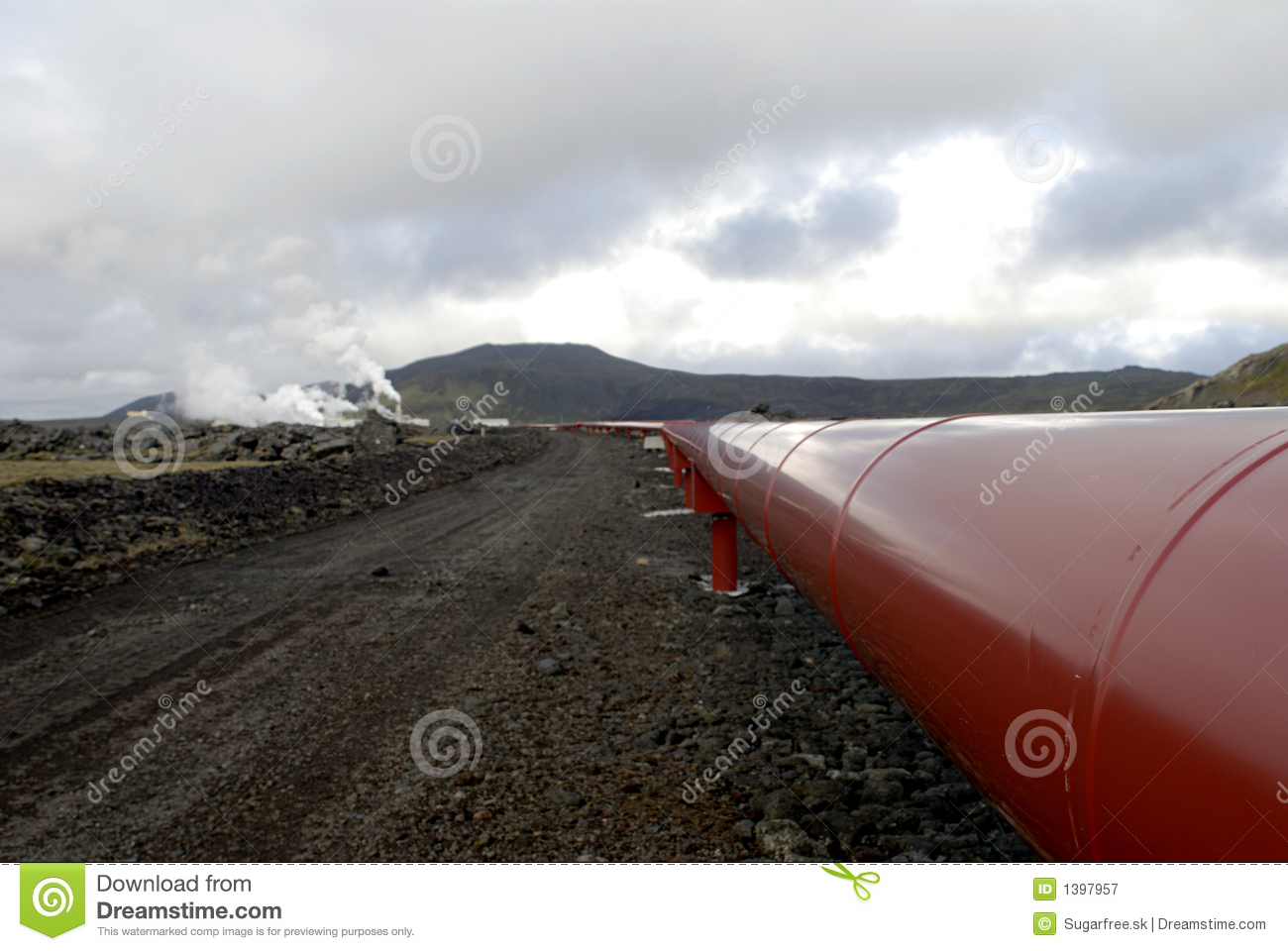 Heating pipes in Iceland