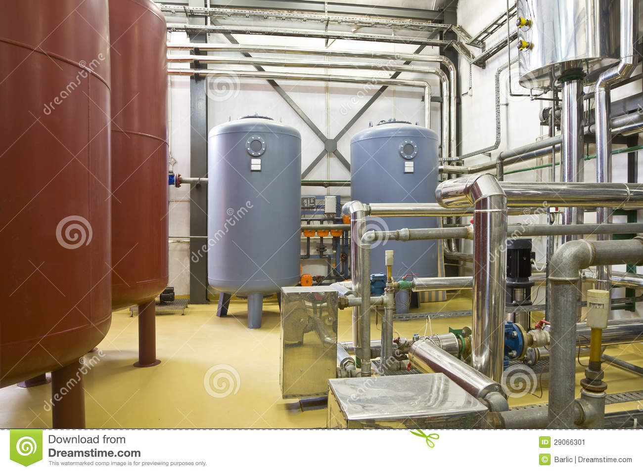 Heating System Boiler Room Stock Image Image 29066301