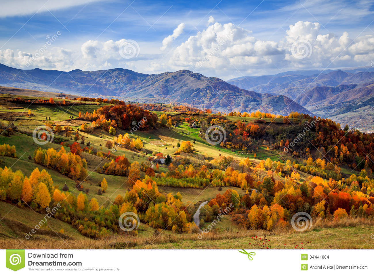Heaven stock images image 34441804 - Summer houses mountains ...