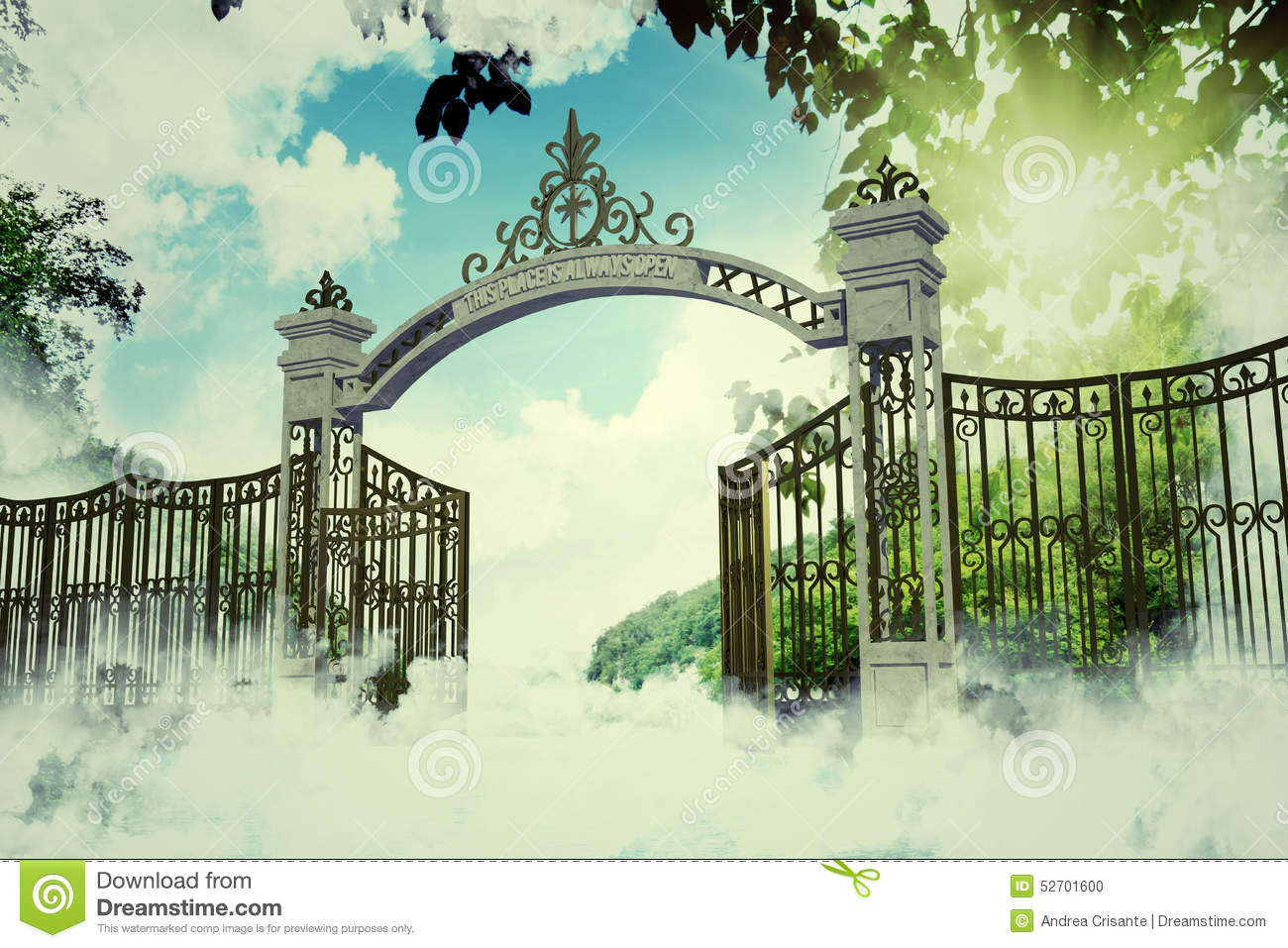 28 Collection of Gates Of Heaven Clipart  High quality