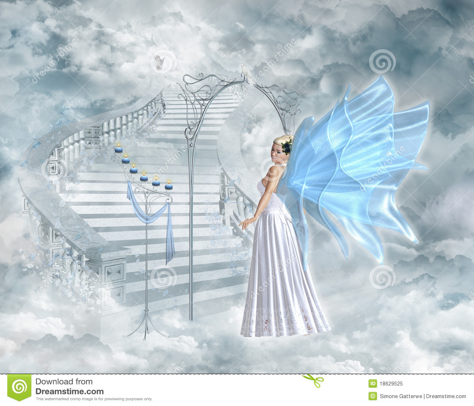 Heaven S Gate Stock Illustration Illustration Of Guardian