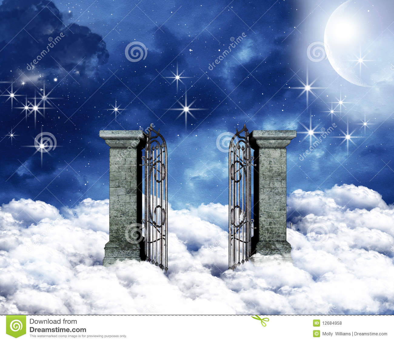 Heavenly Gate Royalty Free Stock Photos - Image: 12684958