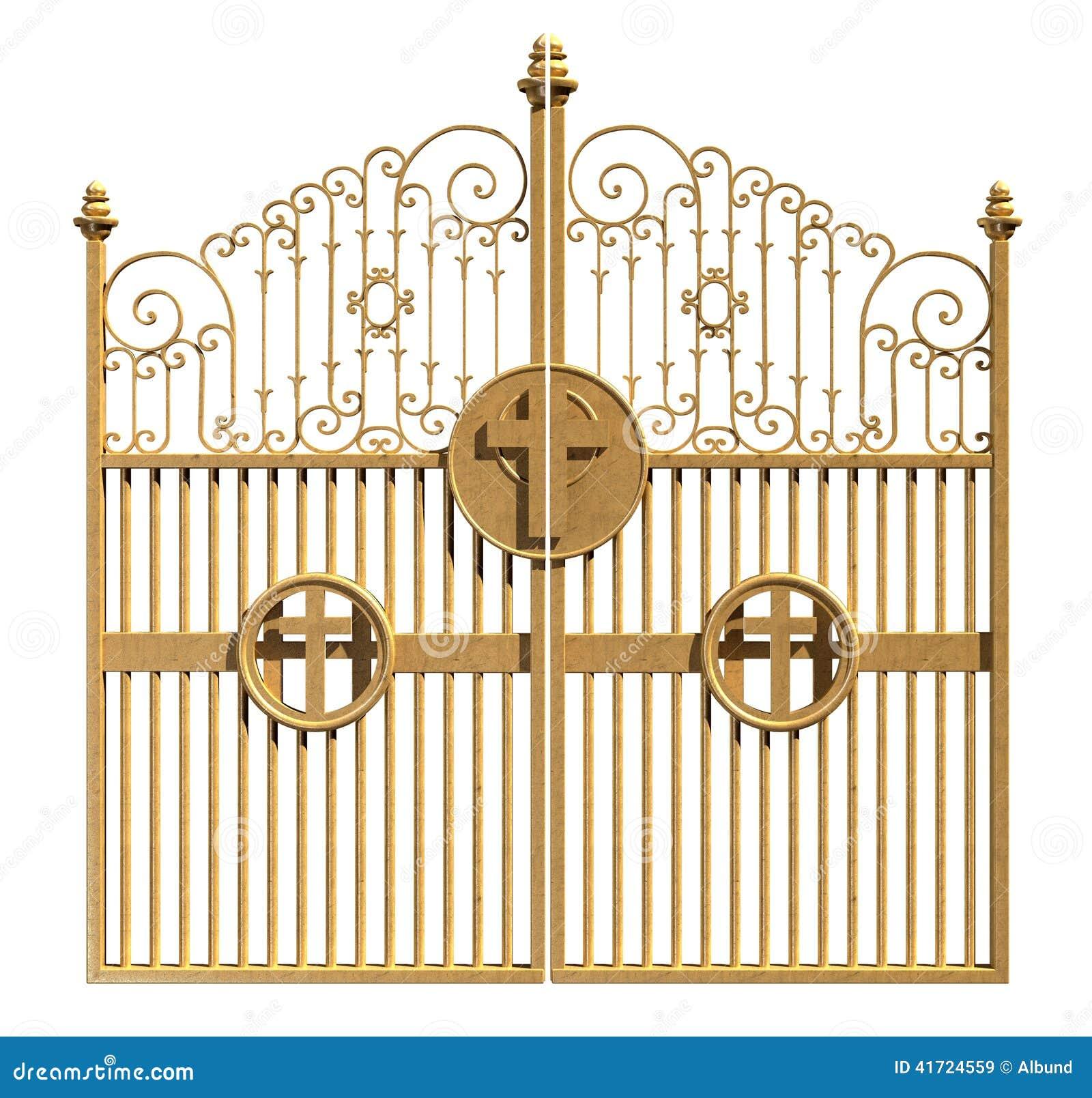 Heavens Golden Gates Isolated Stock Illustration Image