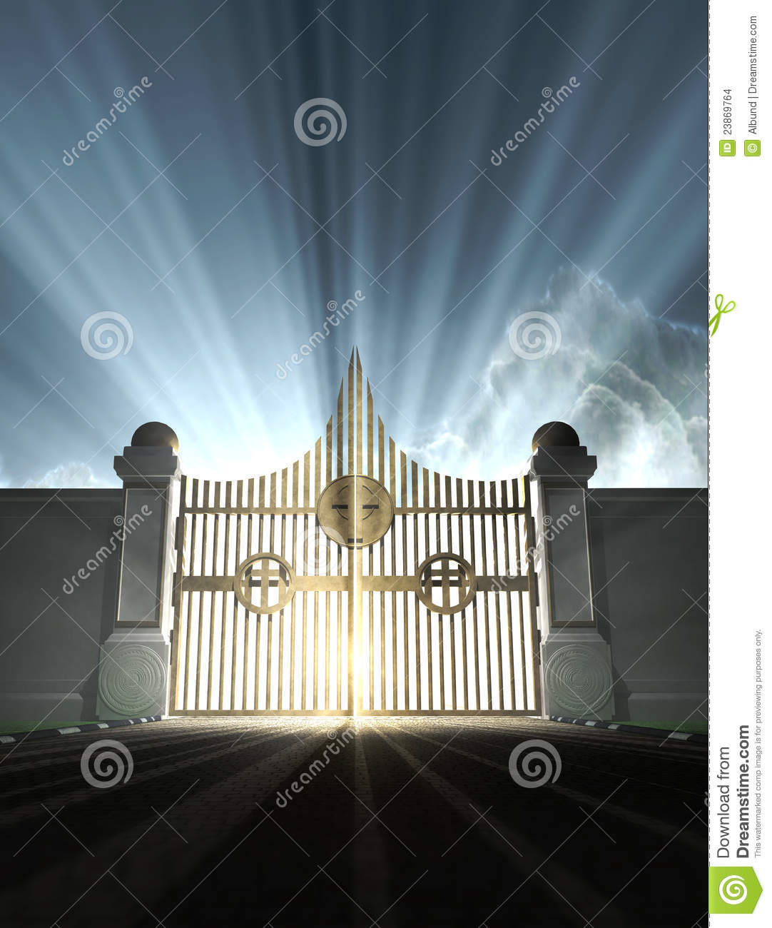 Heavens Pearly Gates Stock Images Image 23869764