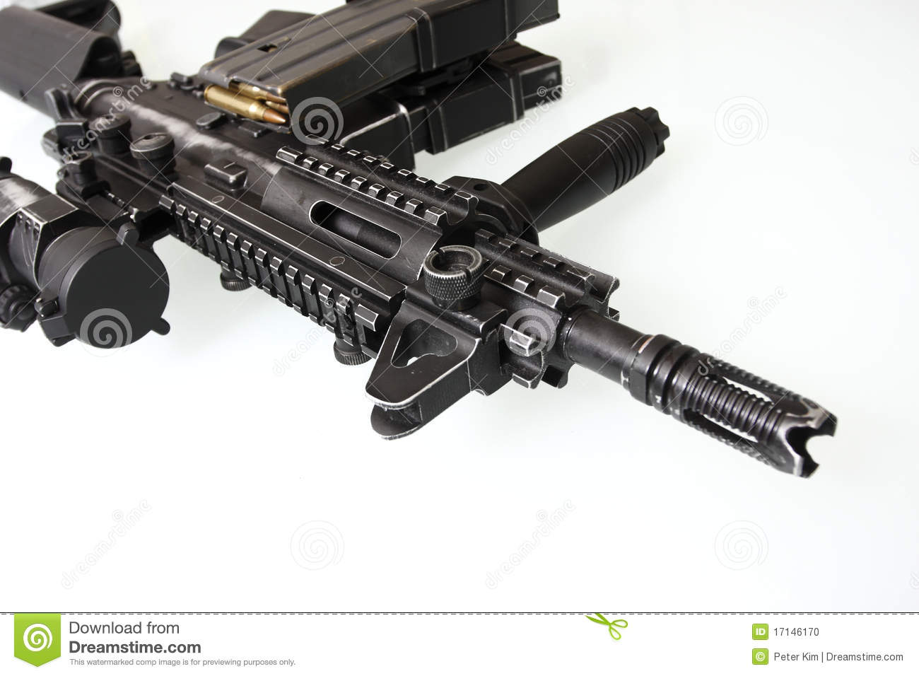 Heavily Used Military M16 Rifle Stock Photo - Image of military