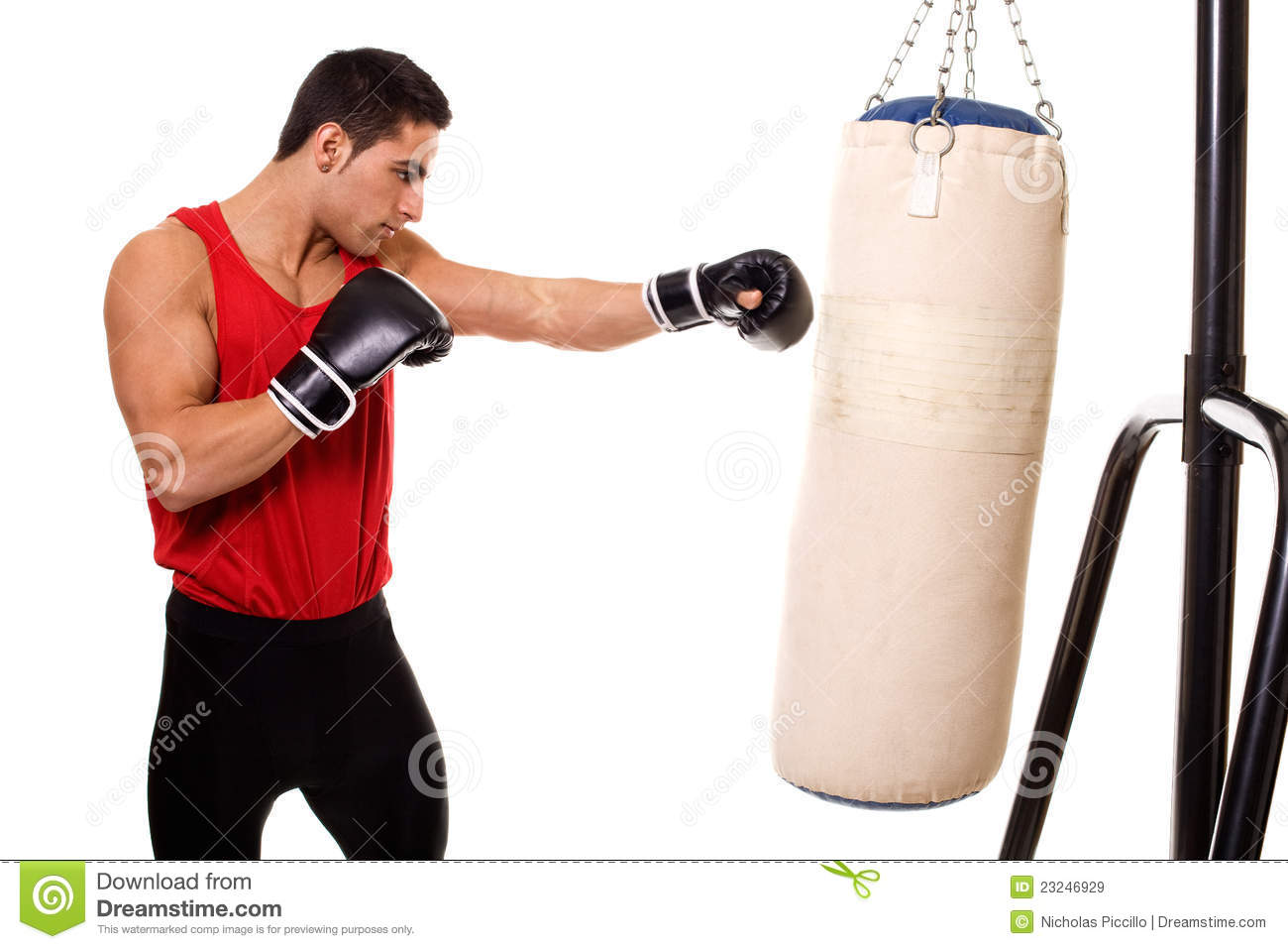 Heavy Bag Workout Royalty Free Stock Images - Image: 23246929