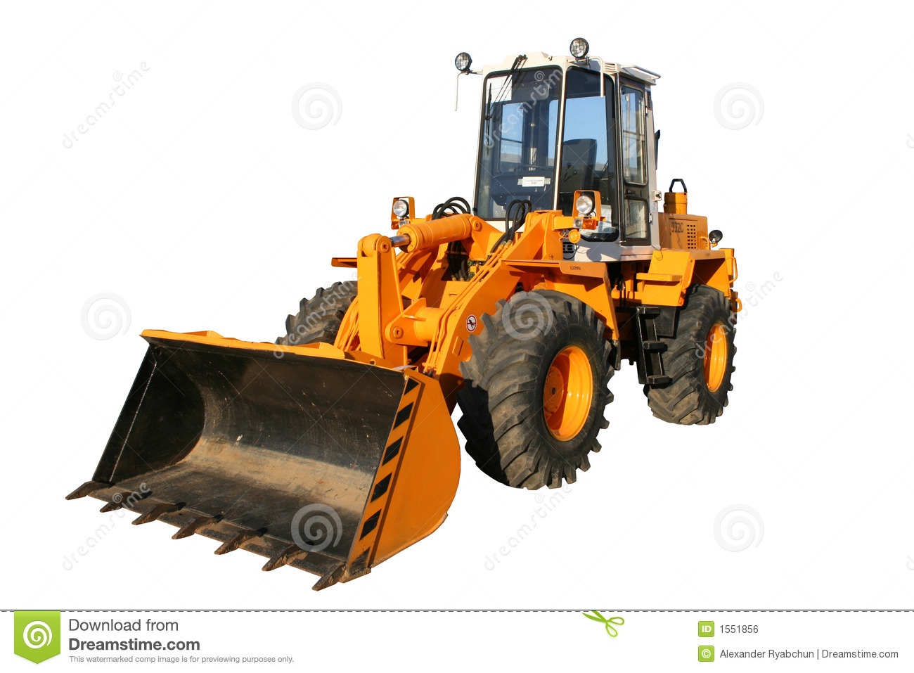 The Heavy Building Bulldozer Of Yellow Color Royalty Free