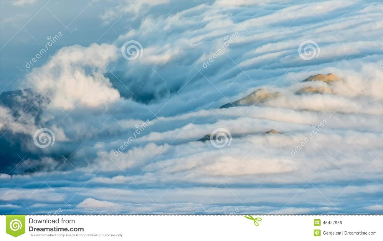 Heavy Clouds Rolling Over The Island In The Azores Stock Footage