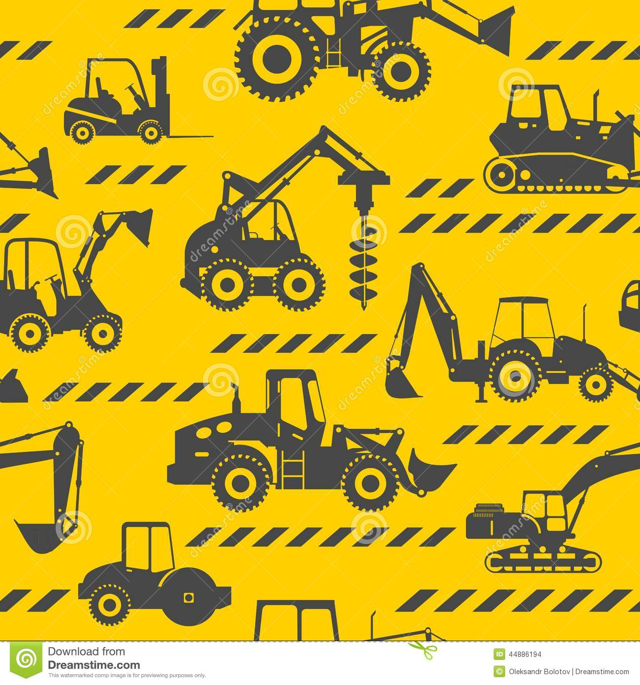 heavy construction machines seamless background stock vector banner ribbon images vector banner ribbon vintage