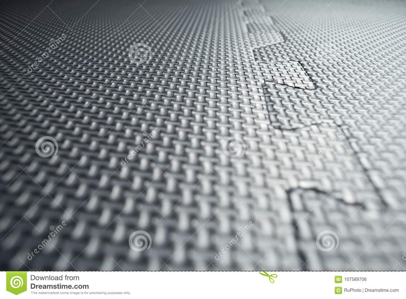 Heavy Duty Black Rubber Flooring Tiles Inside A Garage Stock Photo - How to clean black rubber gym flooring