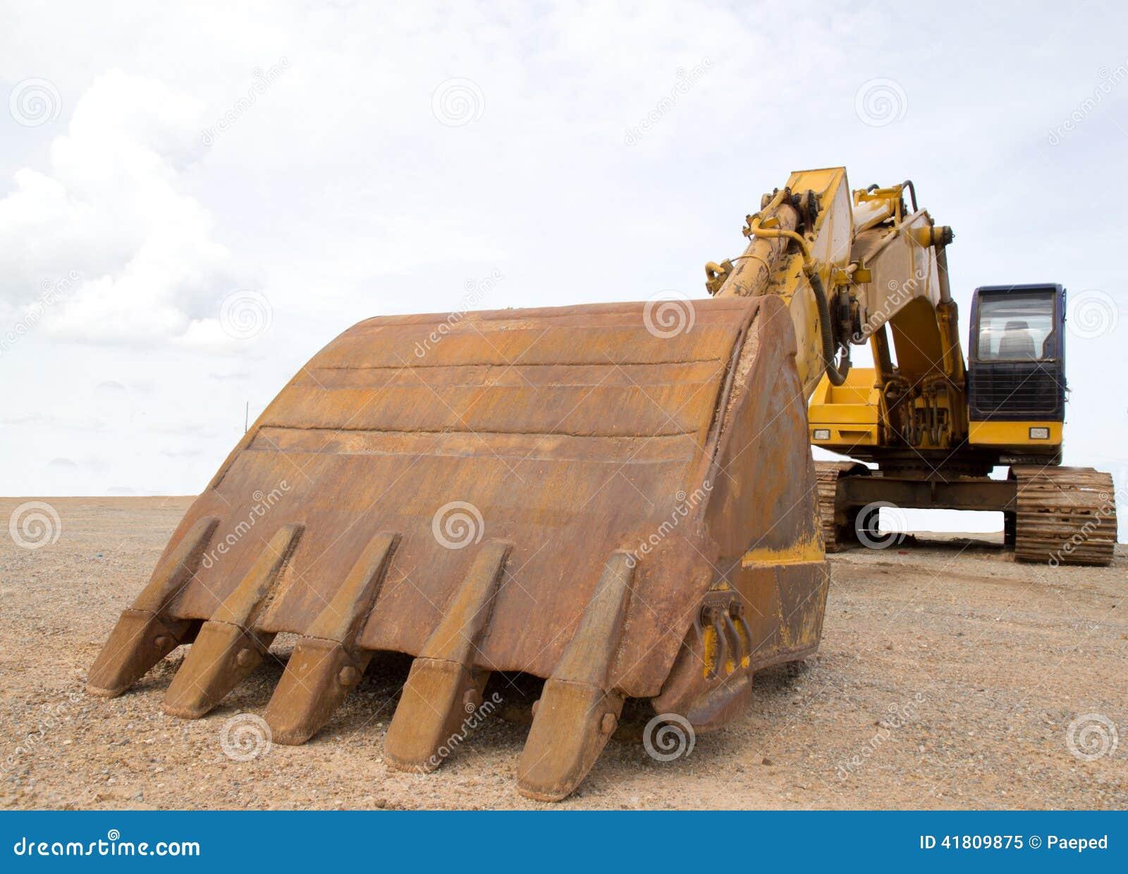 Heavy Duty Construction : Backhoe heavy equipment construction zone royalty free