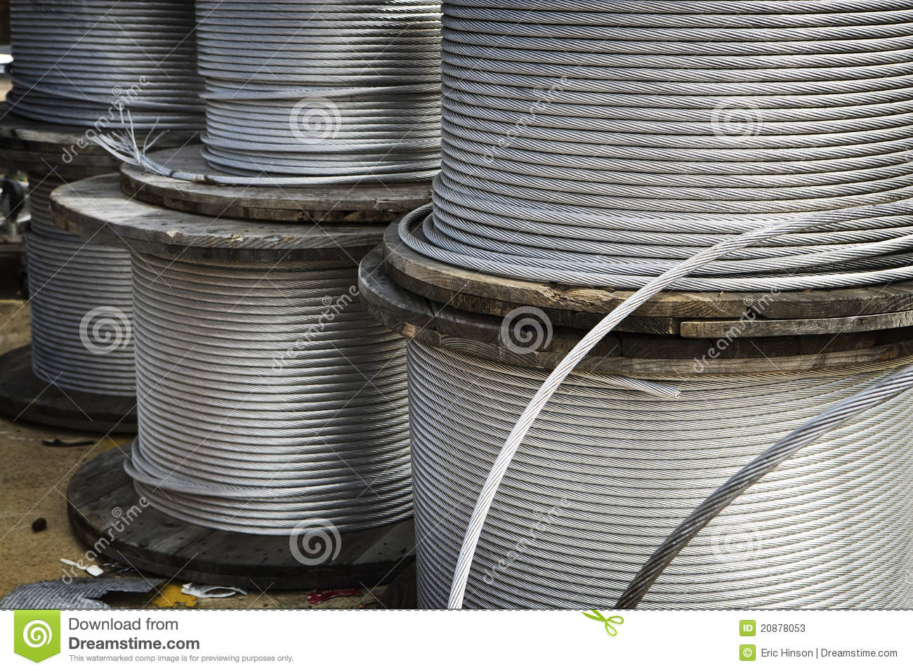 Heavy Duty Cable : Heavy duty metal cable stock image of stacked