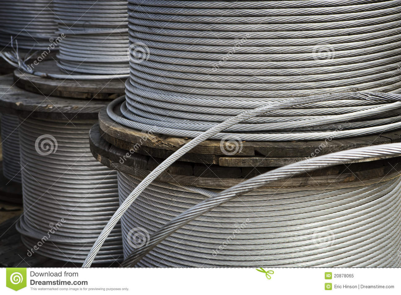 Heavy Duty Metal Cable Royalty Free Stock Photo Image