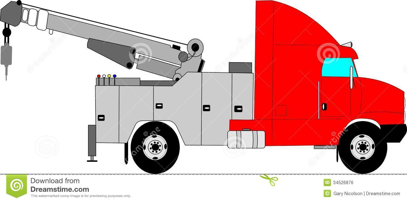 Heavy Duty Tow Truck Stock Vector Illustration Of Recovery 34526876