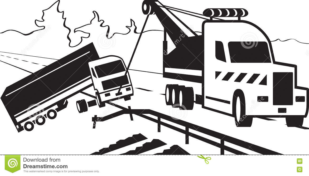 heavy duty tow truck stock vector  illustration of service