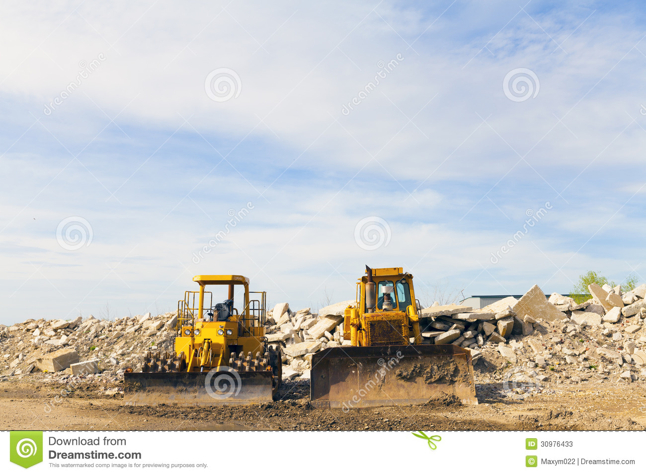 Heavy equipment construction site 30976433