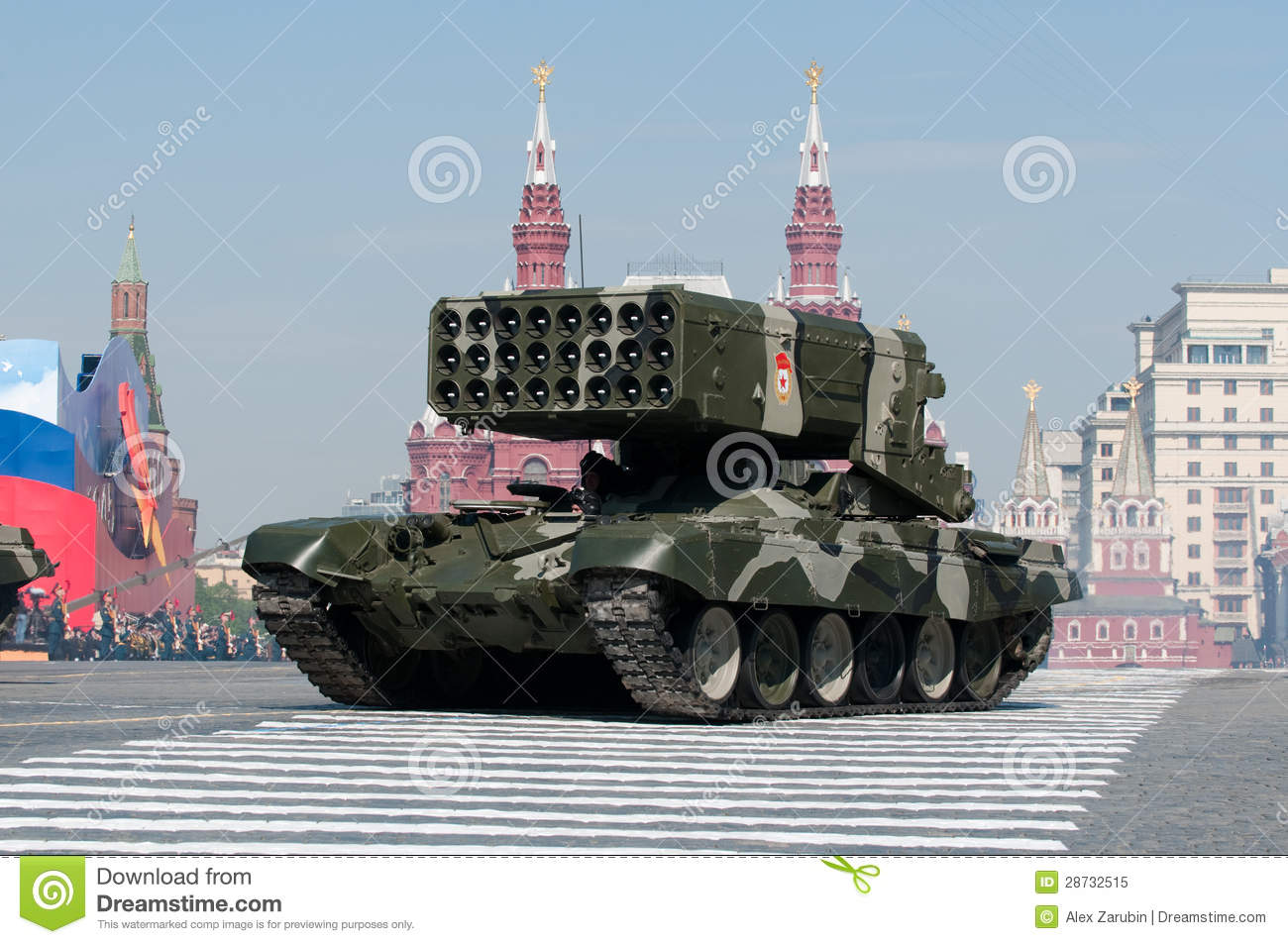 Heavy Flame Thrower System TOS-1 Editorial Image - Image ...