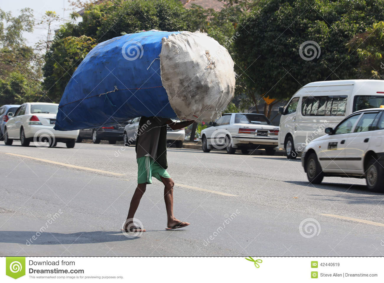 Carrying Heavy Goods - Manual Labor - Myanmar Editorial ...