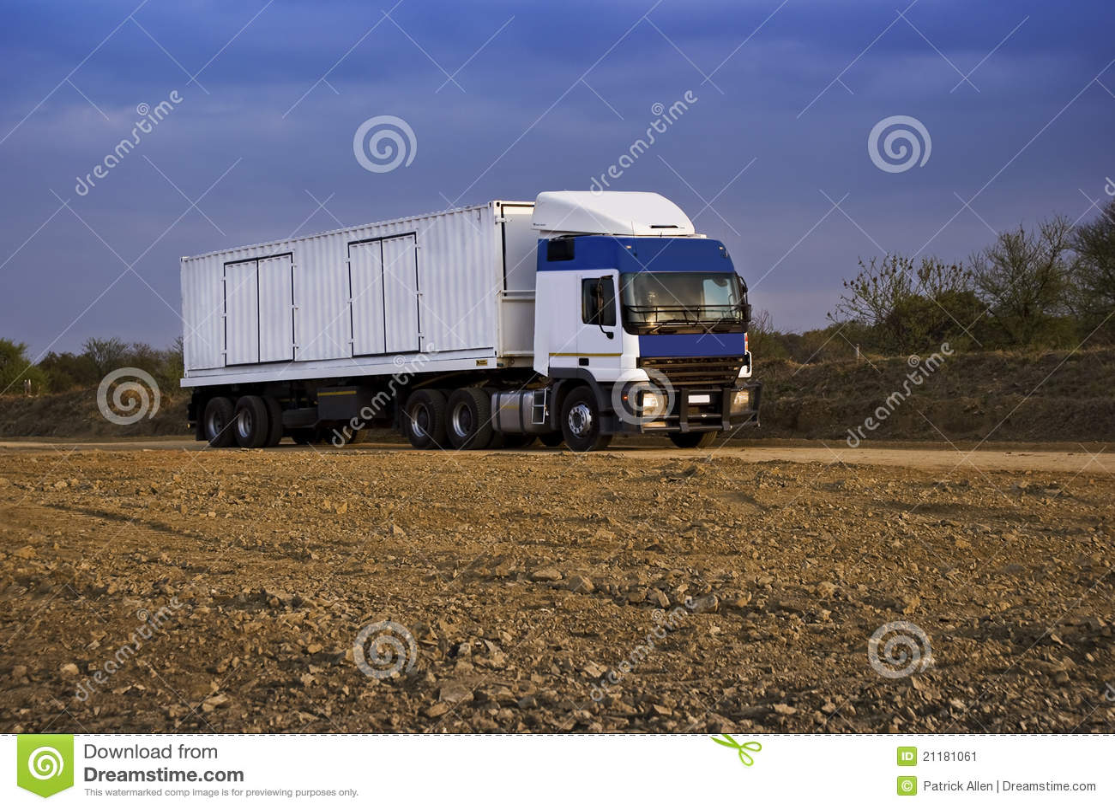 Heavy Goods in Transit via Dirt Roads