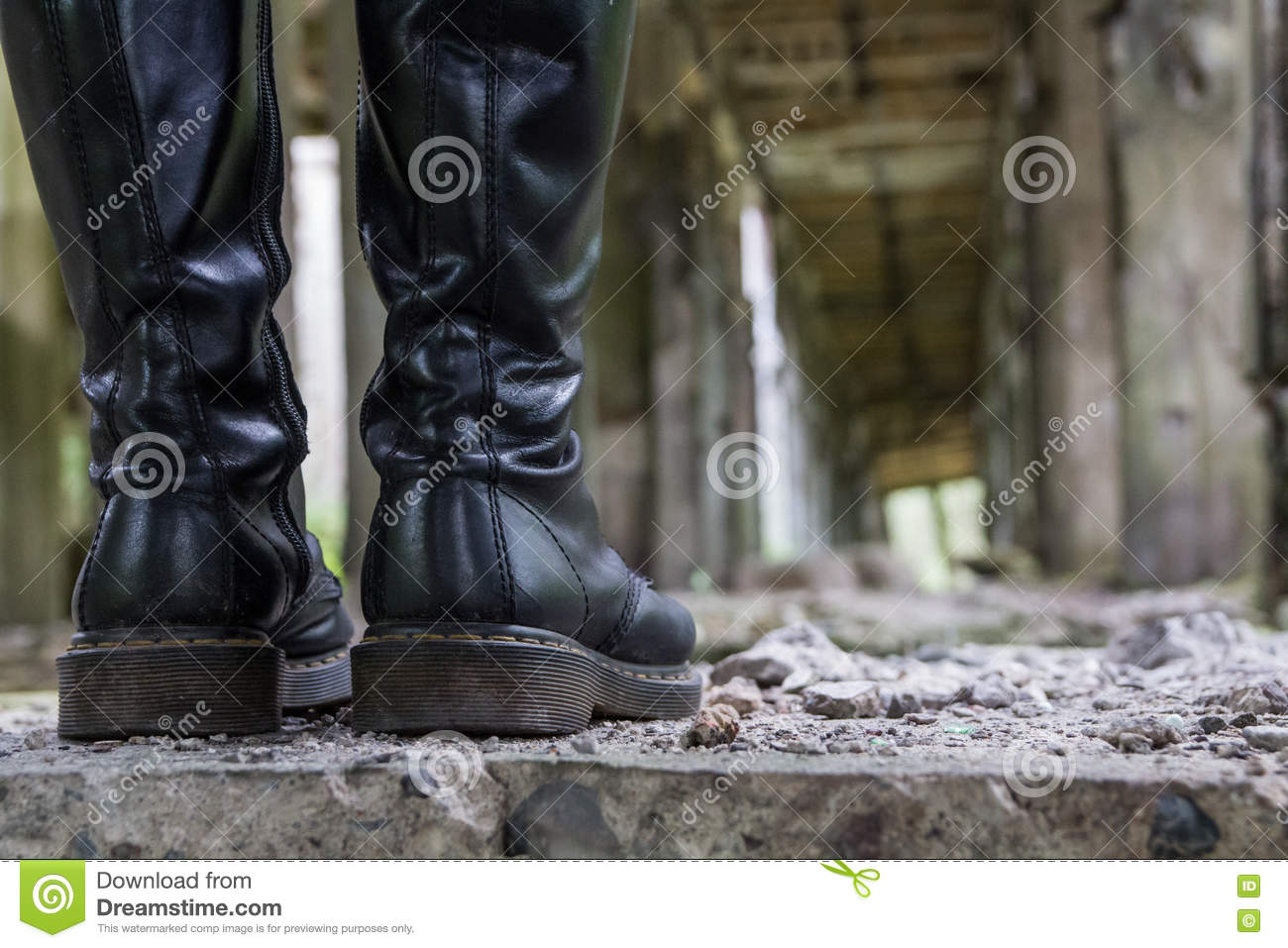 Heavy leather boots