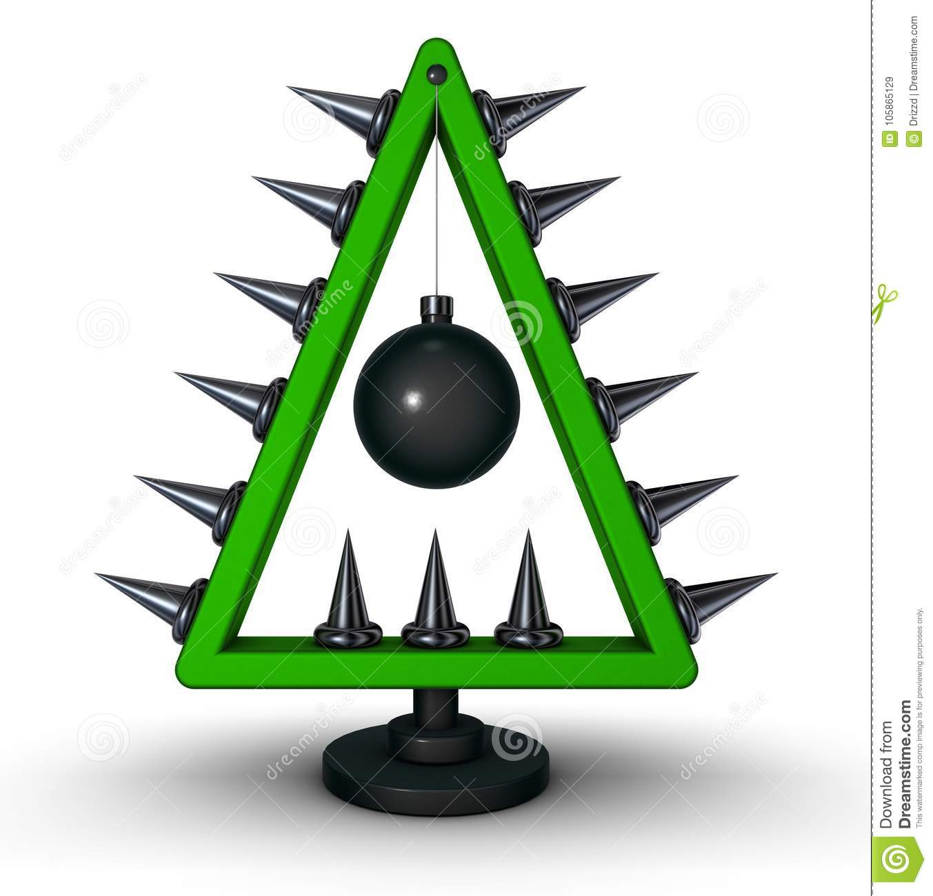 download heavy metal christmas tree stock illustration illustration of december 105865129 - Heavy Metal Christmas Decorations