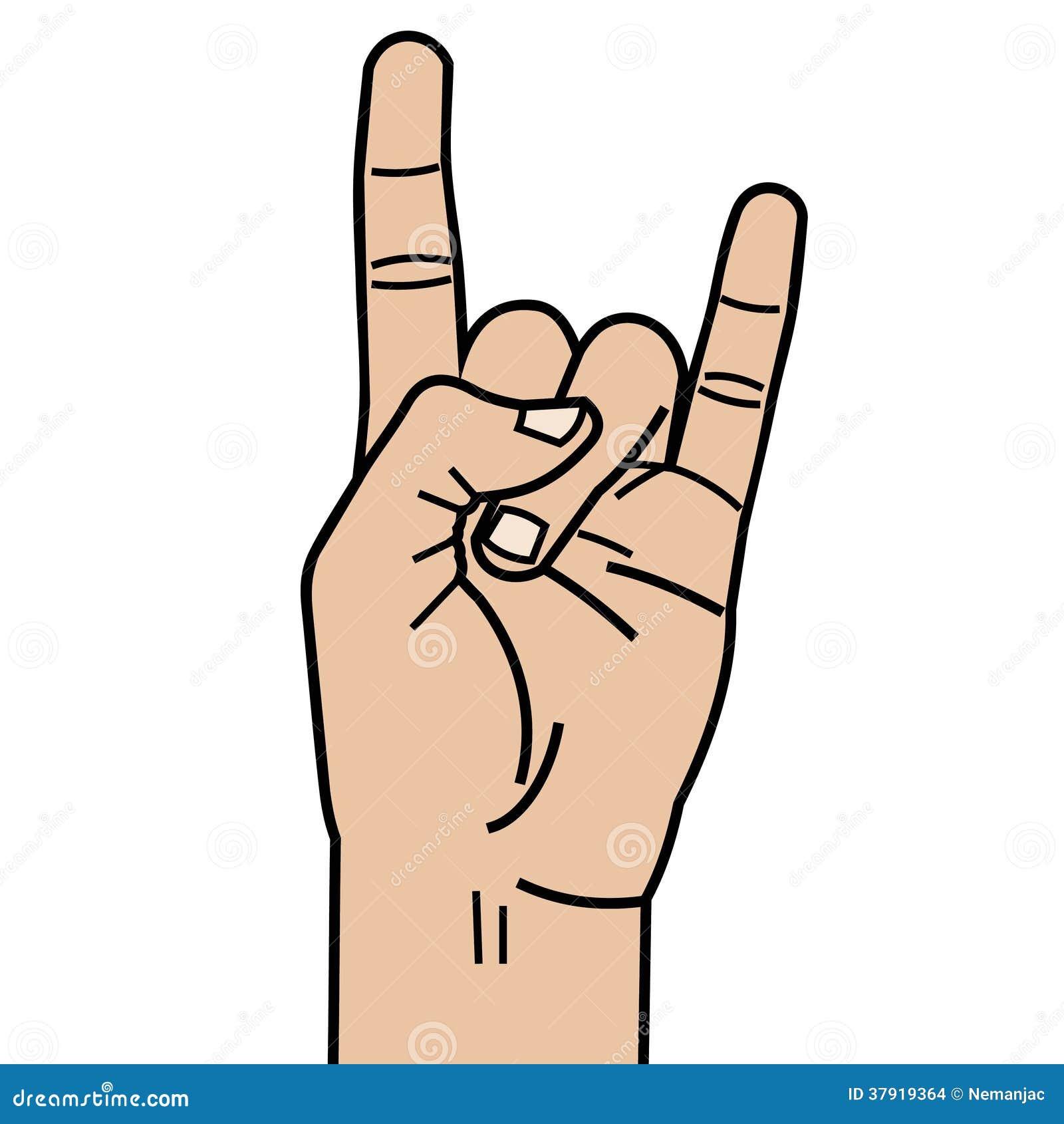 heavy metal hand linear style stock illustration illustration of
