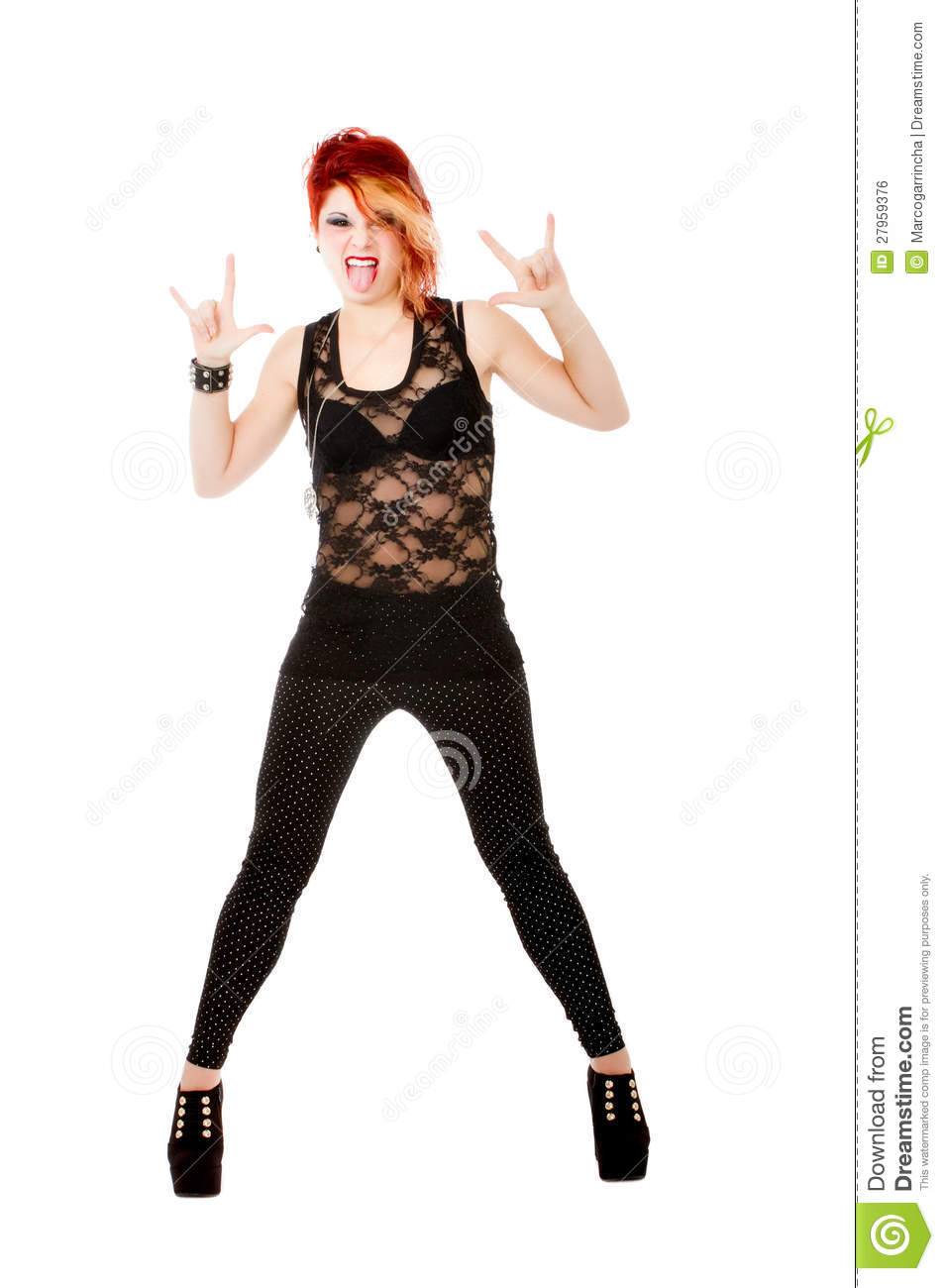 Heavy Metal Horns Gesture Stock Photo Image Of Black