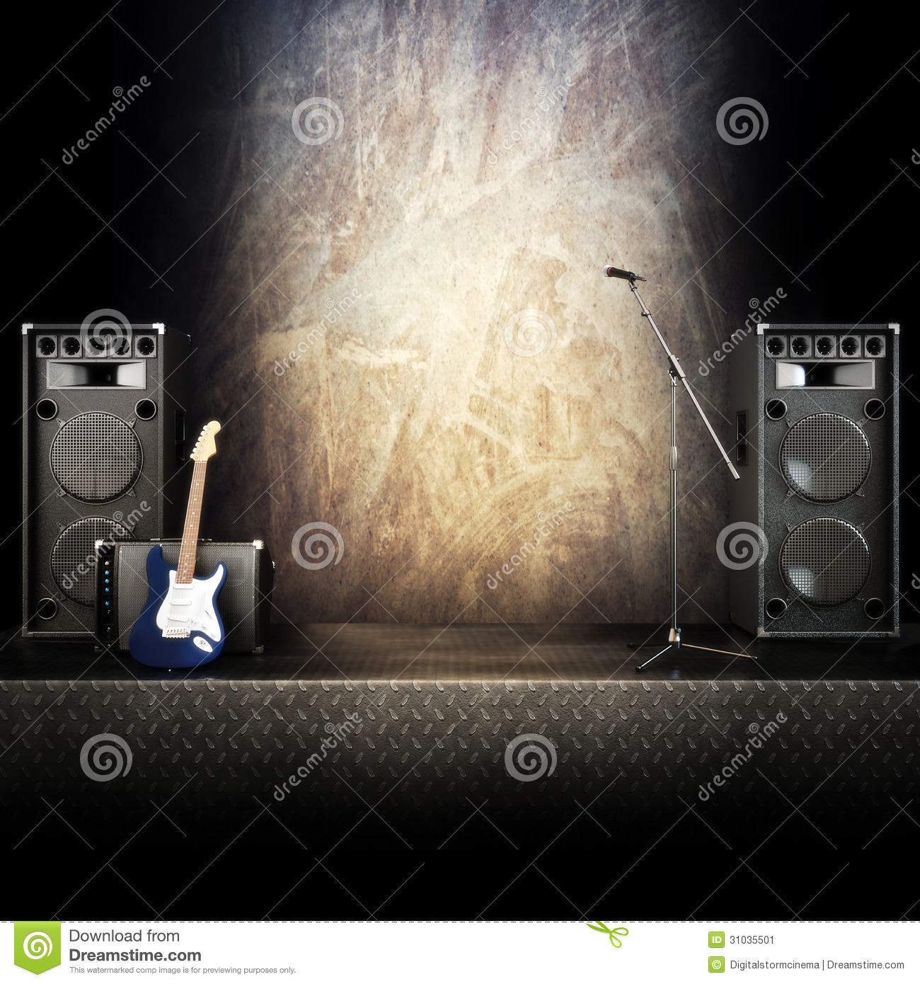 Heavy Metal Music Stage Stock Image Image 31035501