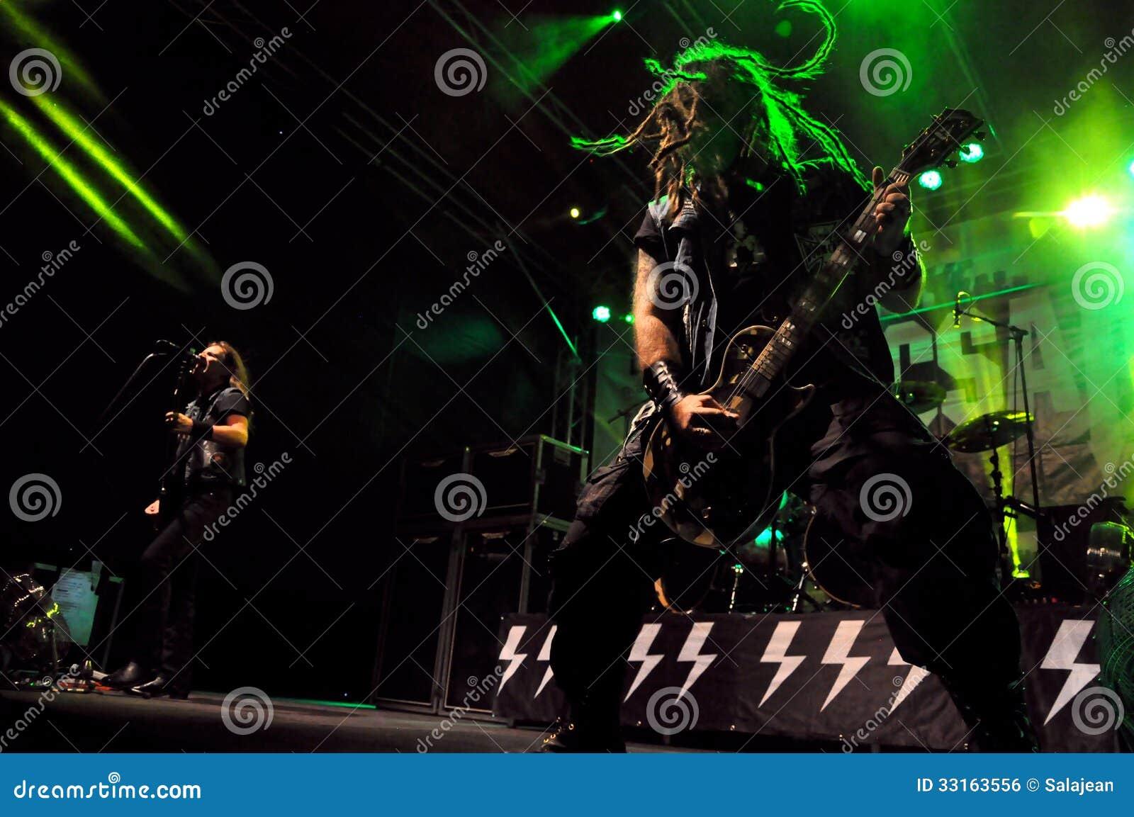 Heavy Metal Rock Concert Live Editorial Photo Image