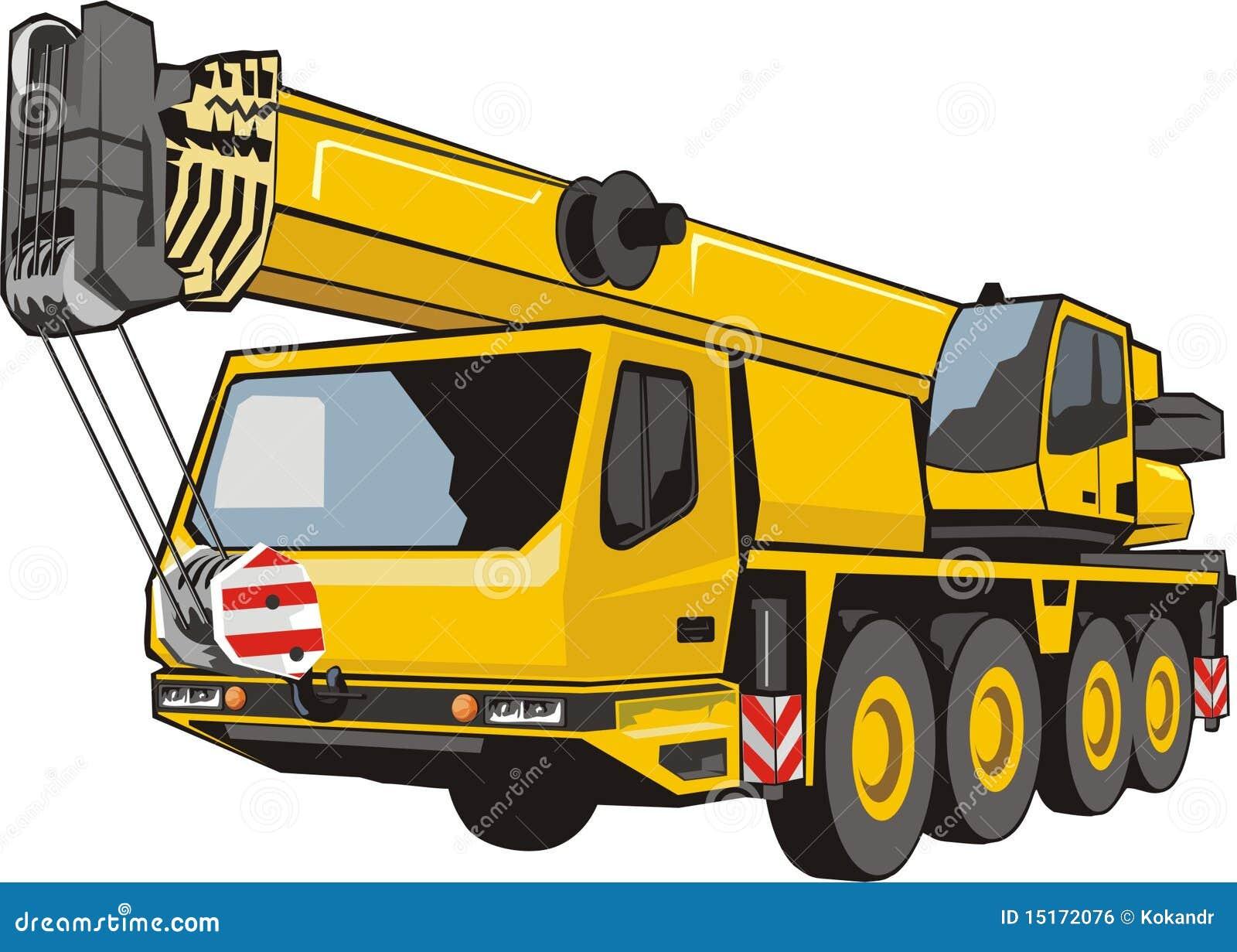 Heavy Mobile Crane Stock Vector Illustration Of Vessel