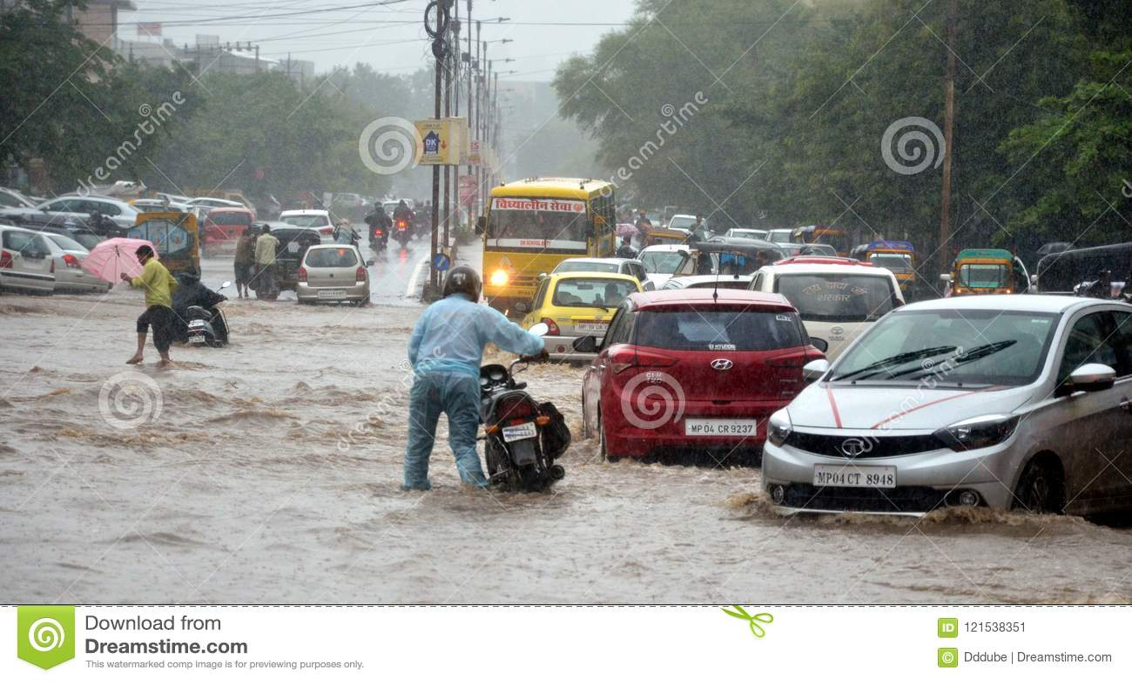 Heavy rainfall in Bhopal editorial photo  Image of rainfall