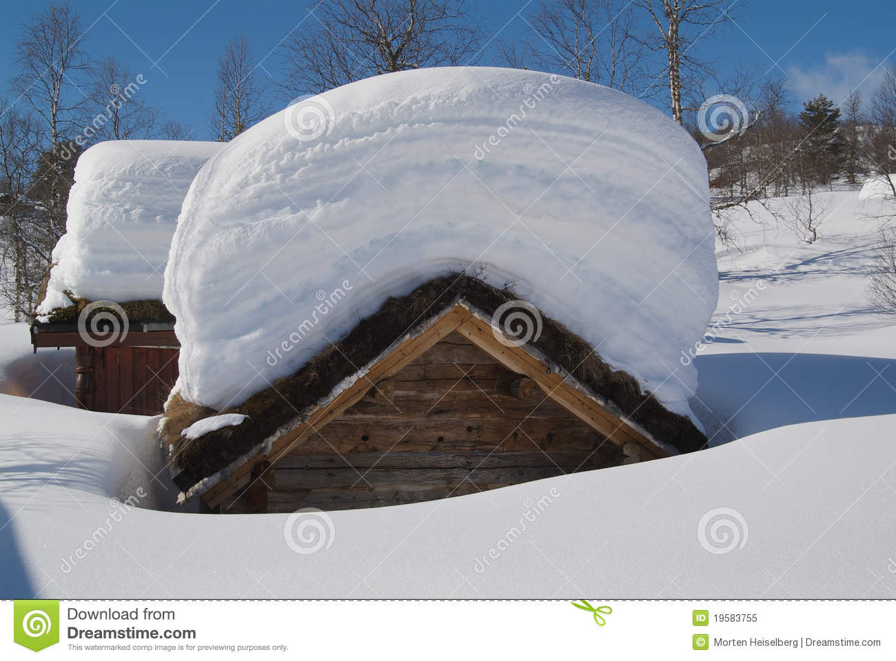 Heavy snow load royalty free stock photo image 19583755 for Snow loads on roofs