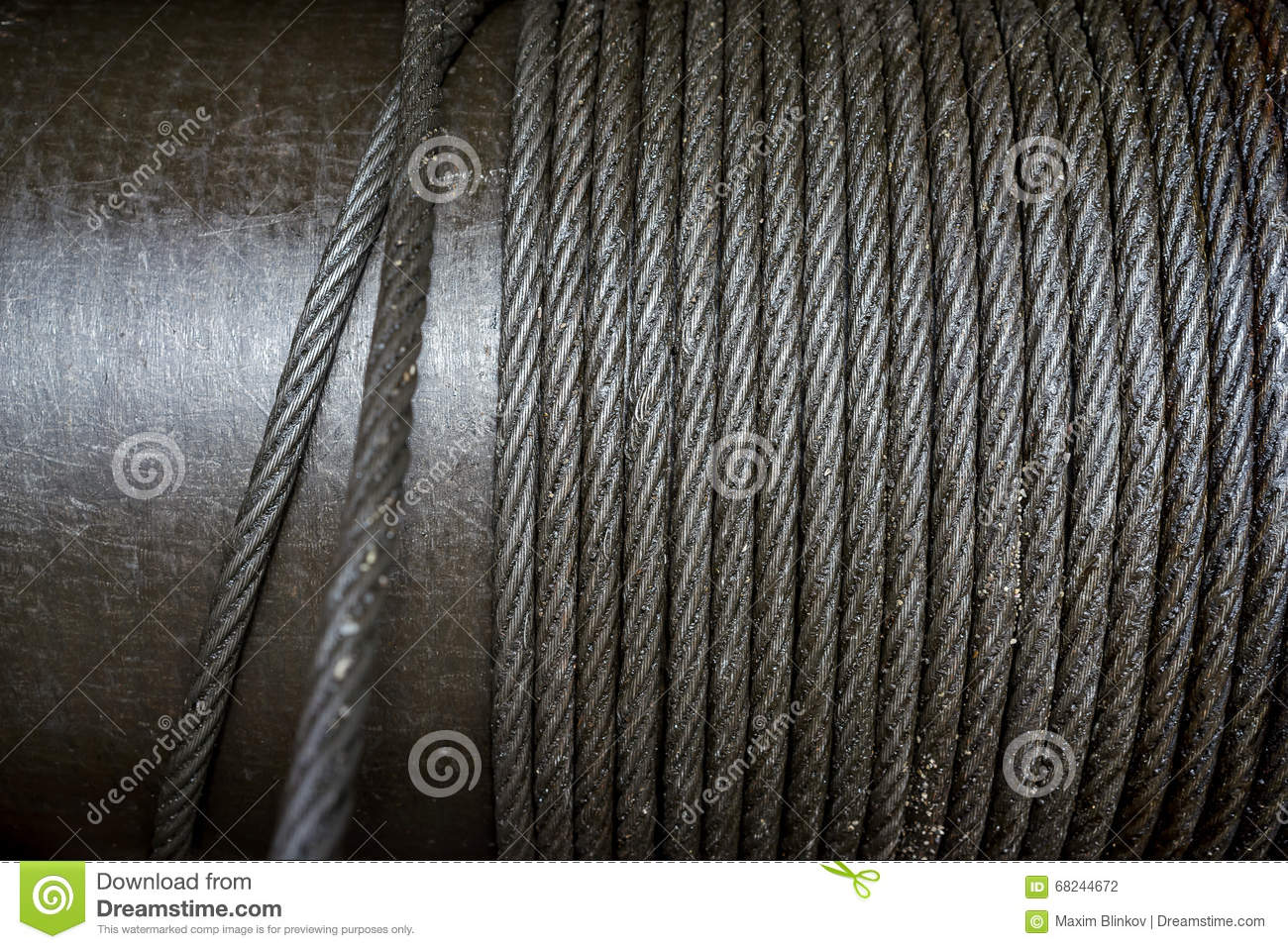 Heavy Steel Wire Cable In Industry Stock Photo 68244672 - Megapixl
