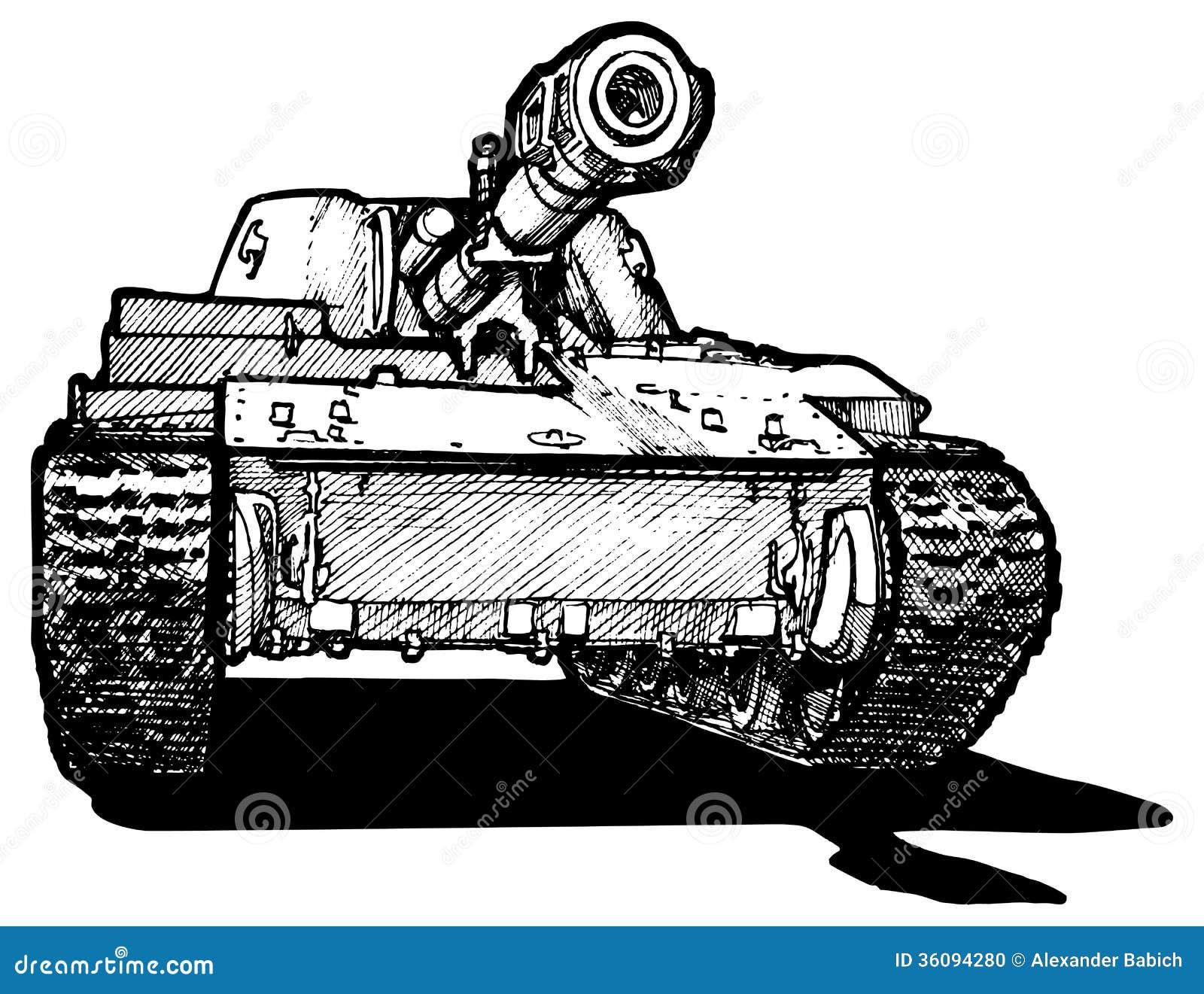 Heavy Tank Stock Photo Image 36094280