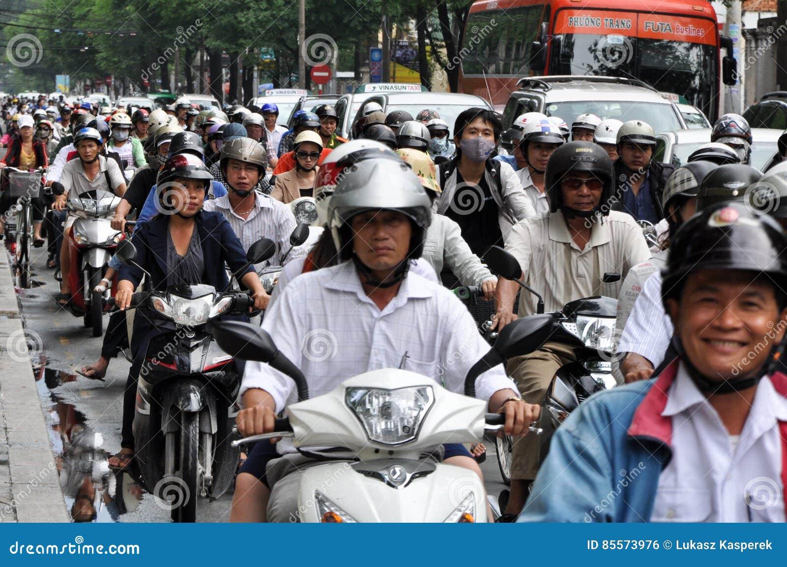 Heavy traffic in Saigon