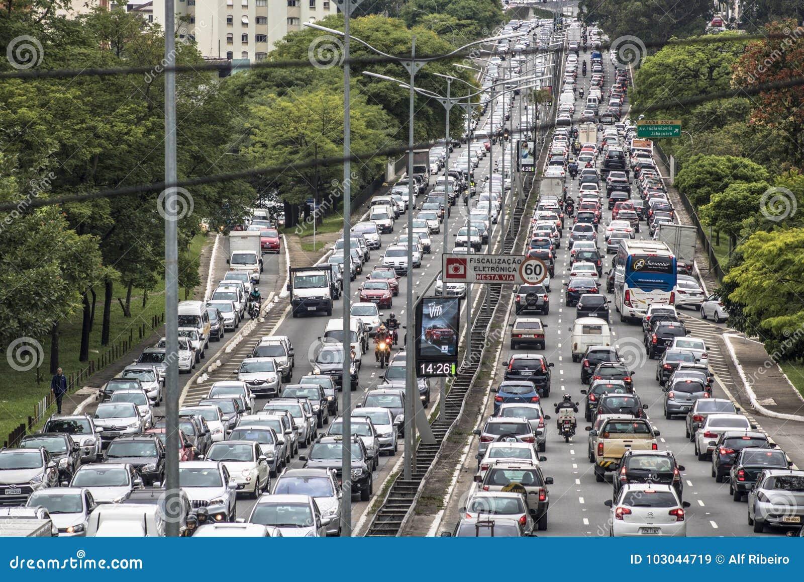 Traffic jam nightmare in Brazil | Newshub |Sao Paulo Brazil Traffic