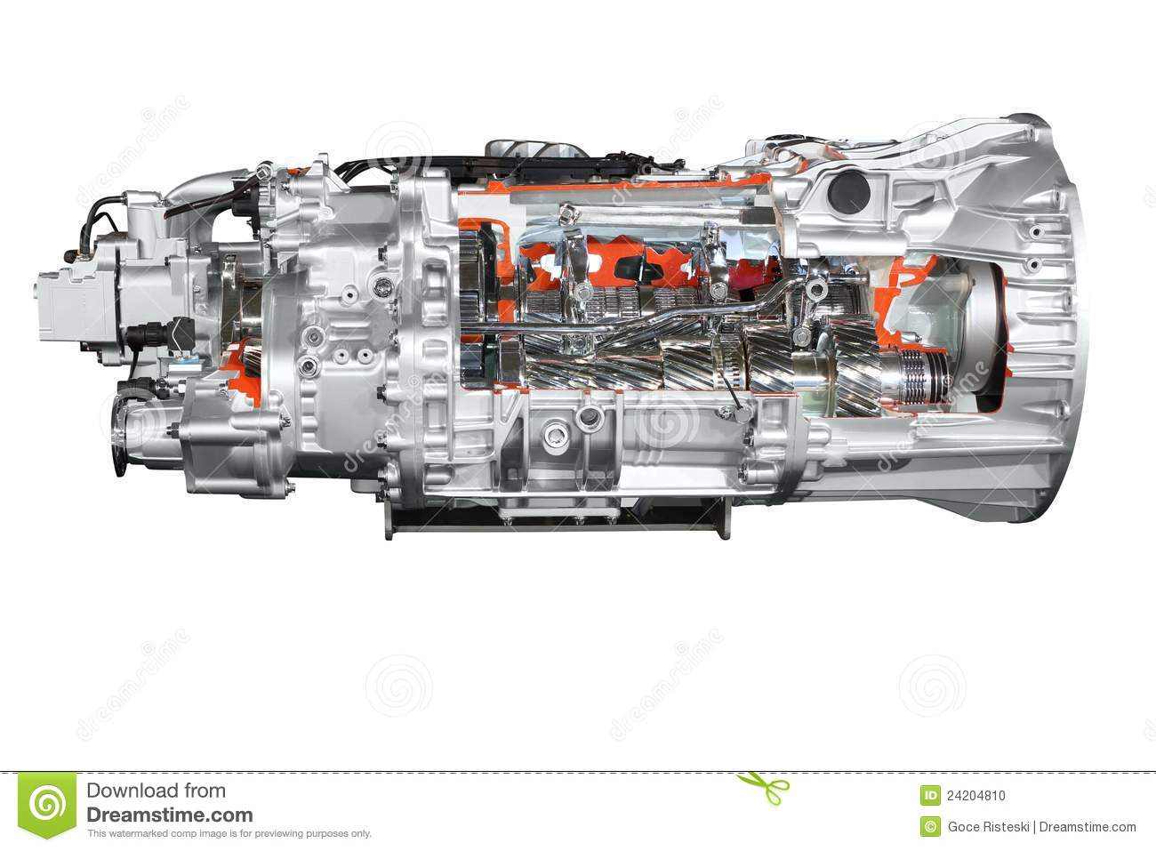 Semi Truck Transmissions : Heavy truck automatic transmission isolated royalty free