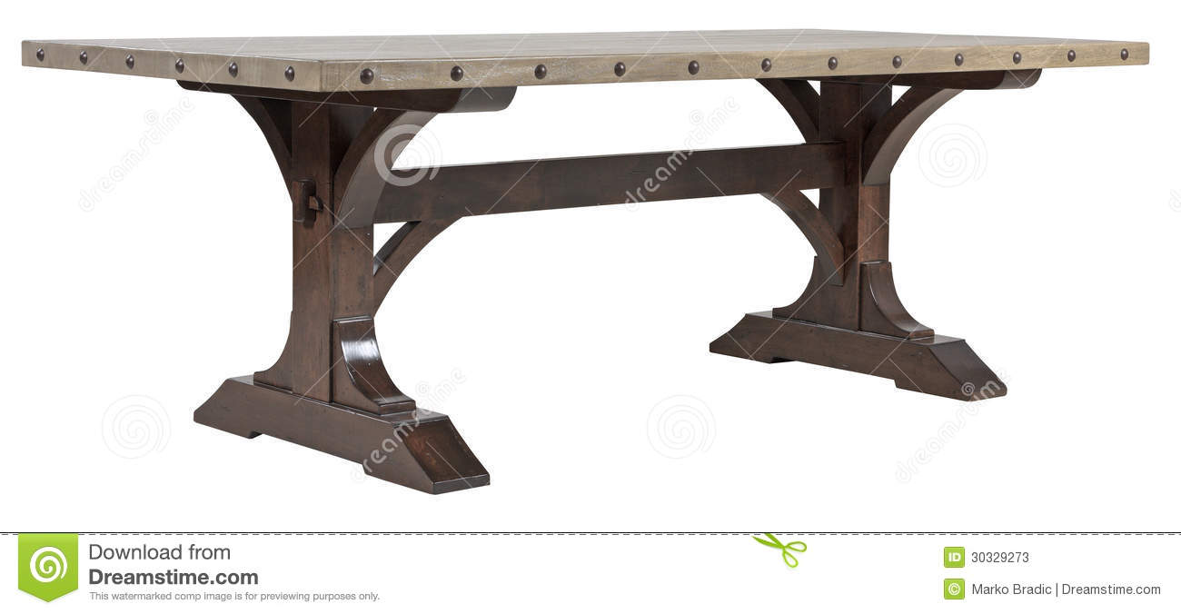 Heavy Wooden Dining Table Stock Photos - Image: 30329273