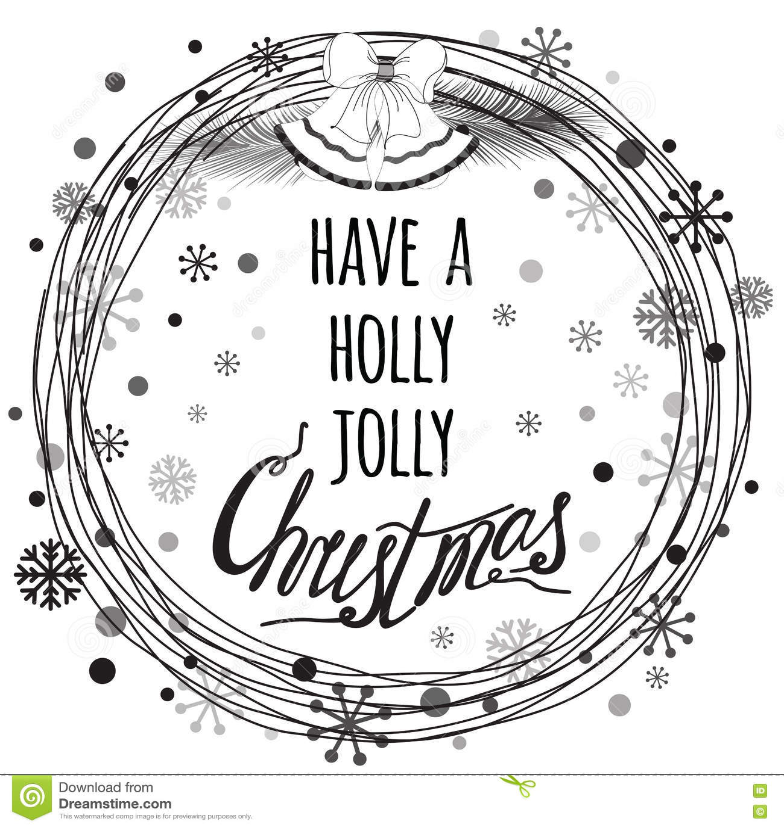 Heb Een Holly Jolly Christmas Quote Typography Banner-Ontwerp Vector ...